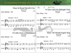 Christmas Hymns, pic of sheet music 2 of 4, B-flat