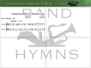 Christmas Hymns, pic of sheet music 4 of 4, B-flat