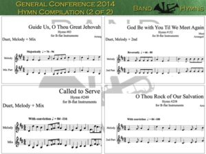 General Conference 2014 Hymns, pic of sheet music 2 of 2, B-flat