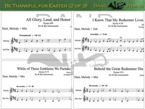 Be Thankful for Easter, pic of sheet music 2 of 3, B-flat