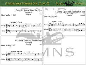 E-flat Christmas Hymns, pic of sheet music 2 of 4, E-flat