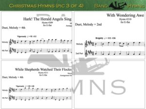 E-flat Christmas Hymns, pic of sheet music 3 of 4, E-flat