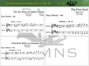E-flat Christmas Hymns, pic of sheet music 4 of 4, E-flat