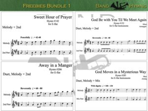 E-flat Freebies Bundle 1, pic of sheet music 1 of 1, E-flat