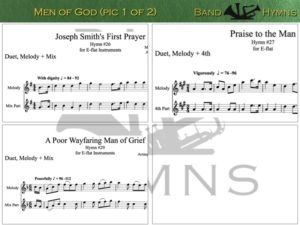 Men of God, pic of sheet music 1 of 2, E-flat