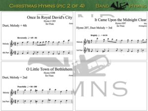 Christmas Hymns, pic of music, 2 of 4, Flute