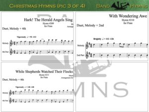 Christmas Hymns, pic of music, 3 of 4, Flute