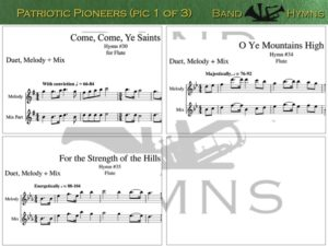 Patriotic Pioneers, pic of music, 1 of 3, Flute