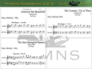 Patriotic Pioneers, pic of music, 3 of 3, Flute