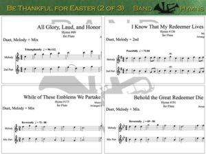 Be Thankful for Easter, pic of music, 2 of 3, Flute