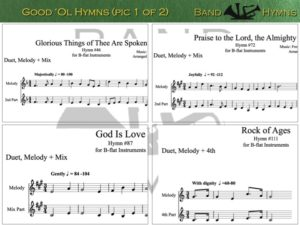 Good Ol' Hymns, pic of sheet music 1 of 2, B-flat