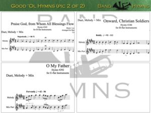 Good Ol' Hymns, pic of sheet music 2 of 2, B-flat