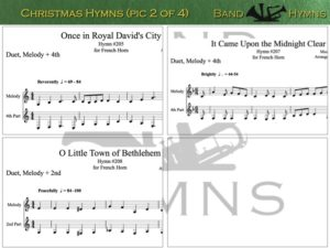 Christmas Hymns, pic of music, 2 of 4, French Horn