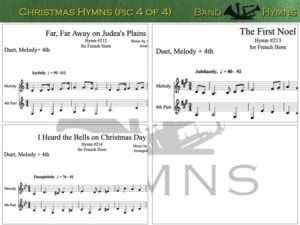 Christmas Hymns, pic of music, 4 of 4, French Horn
