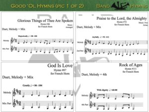 Good Ol' Hymns, pic of music, 1 of 2, French Horn