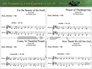 Be Thankful for Easter, pic of music, 1 of 3, French Horn