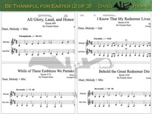 Be Thankful for Easter, pic of music, 2 of 3, French Horn