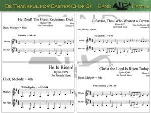 Be Thankful for Easter, pic of music, 3 of 3, French Horn