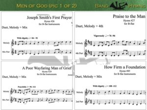Men of God hymns, pic of sheet music 1 of 2, B-flat