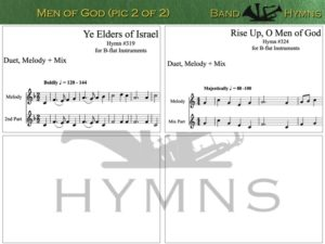 Men of God hymns, pic of sheet music 2 of 2, B-flat