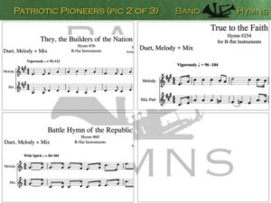 Patriotic Pioneers, pic of sheet music 2 of 3, B-flat