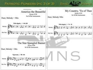 Patriotic Pioneers, pic of sheet music 3 of 3, B-flat