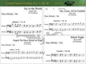 Christmas Hymns, pics of music in compilation, 1 of 4, trombone