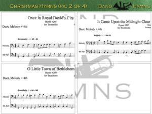 Christmas Hymns, pics of music in compilation, 2 of 4, trombone