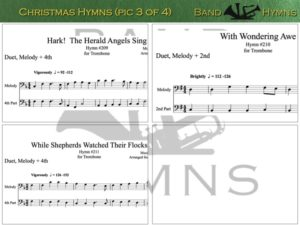 Christmas Hymns, pics of music in compilation, 3 of 4, trombone