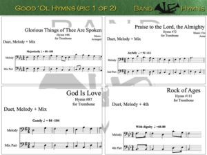 Good Ol' Hymns, pics of music in compilation, 1 of 2, trombone