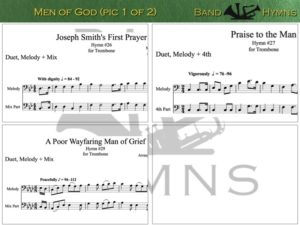 Men of God, pics of music in compilation, 1 of 2, trombone