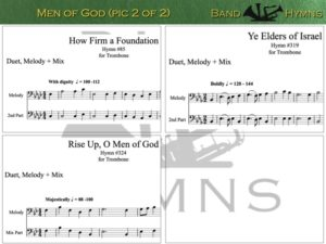 Men of God, pics of music in compilation, 2 of 2, trombone