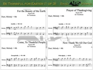 Be Thankful for Easter, pics of music in compilation, 1 of 3, trombone