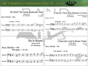 Be Thankful for Easter, pics of music in compilation, 3 of 3, trombone