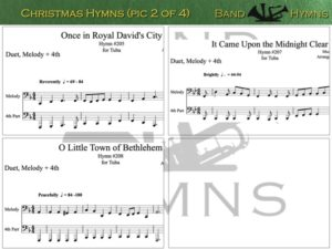 Christmas Hymns, pics of music in compilation, 2 of 4, tuba