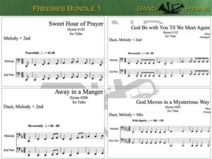Freebies Bundle 1, pics of music in compilation, 1 of 1, tuba