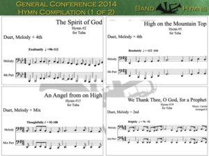 General Conference 2014, pics of music in compilation, 1 of 2, tuba