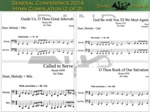 General Conference 2014, pics of music in compilation, 2 of 2, tuba