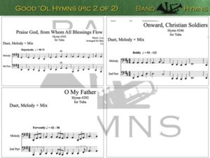 Good Ol' Hymns, pics of music in compilation, 2 of 2, tuba