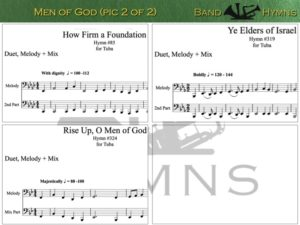 Men of God, pics of music in compilation, 2 of 2, tuba