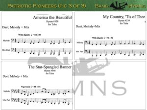 Patriotic Pioneers, pics of music in compilation, 3 of 3, tuba
