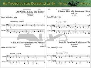 Be Thankful for Easter, pics of music in compilation, 2 of 3, tuba
