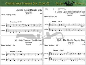 Christmas Hymns, pic of sheet music 2 of 4, B-flat