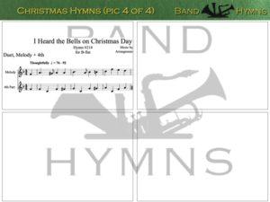 Christmas Hymns, pic of sheet music 4 of 4, B-flat