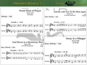 Freebie Hymns bundle 1, pic of sheet music 1 of 1, B-flat
