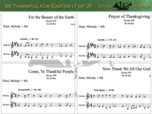 Be Thankful for Easter, pic of sheet music 1 of 3, B-flat