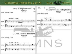 E-flat Christmas Hymns, pic of sheet music 2 of 4, E-flat