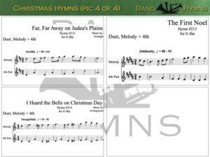 E-flat Christmas Hymns, pic of sheet music 4 of 4, E-flat