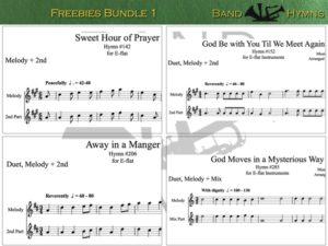 E-flat Freebies Bundle 1, pic of sheet music 1 of 1, E-flat