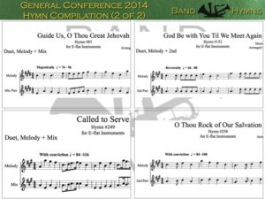 General Conference 2014, pic of sheet music 1 of 2, E-flat